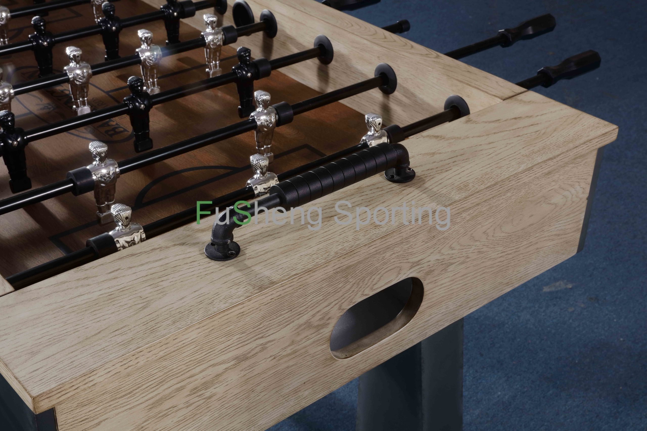 Foosball Table Solid Ash Wood Table Top Soccer Game Supplier Manufact